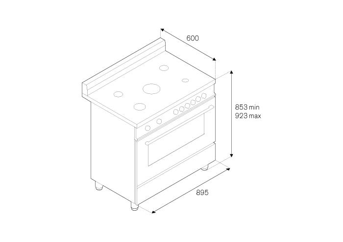 90 5-Burners Gas Oven Gas Grill CX | Bertazzoni La Germania